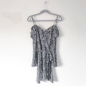 {Sisters of the Tribe} Cold Shoulder Leopard Dress